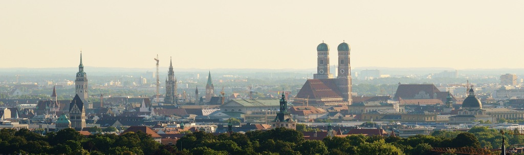 A photograph of the Munich skyline