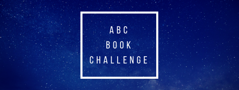 "A banner reading, ""ABC BOOK CHALLENGE"" in a white box, against a blue background."